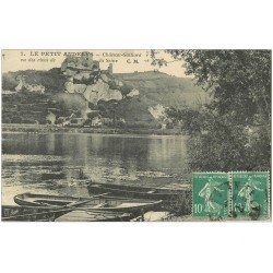 carte postale ancienne 27 LES ANDELYS. Barques Rives de la Seine 1925