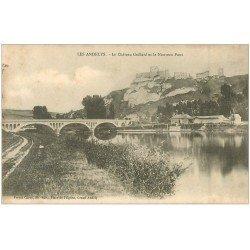 carte postale ancienne 27 LES ANDELYS. Château Gaillard et Nouveau Pont
