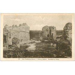 carte postale ancienne 27 LES ANDELYS. Château Gaillard ruines 1947