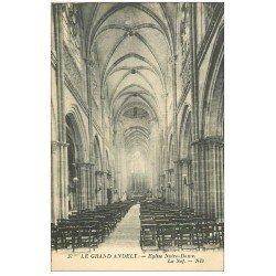 carte postale ancienne 27 LES ANDELYS. Eglise Notre-Dame Nef 37