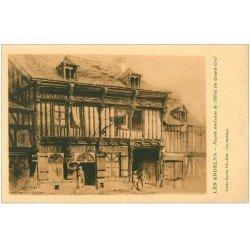 carte postale ancienne 27 LES ANDELYS. Hôtel du Grand Cerf façade