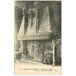carte postale ancienne 27 LES ANDELYS. Hôtel Grand Cerf Cheminée 1932