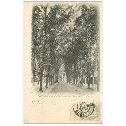 carte postale ancienne 27 LOUVIERS. Boulevard de l'Ouest 1902