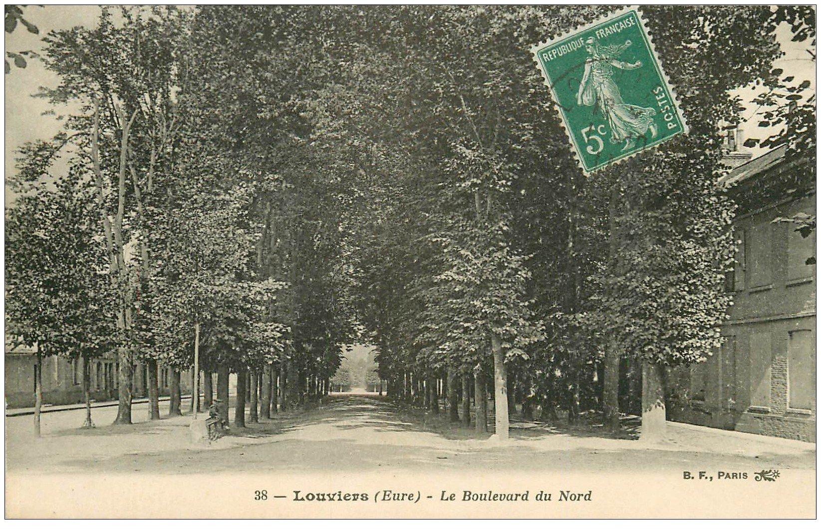 carte postale ancienne 27 LOUVIERS. Boulevard du Nord 38