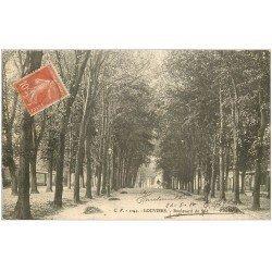 carte postale ancienne 27 LOUVIERS. Boulevard du Sud 1911