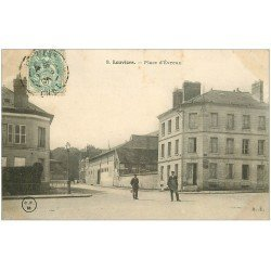 carte postale ancienne 27 LOUVIERS. Bureau placement Place d'Evreux 1905