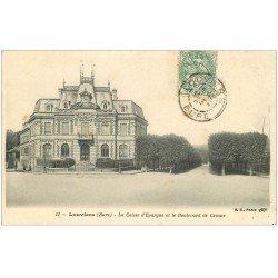 carte postale ancienne 27 LOUVIERS. Caisse d'Epargne Boulevard de Crosne 1903