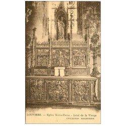 carte postale ancienne 27 LOUVIERS. Eglise Notre-Dame Autel de la Vierge