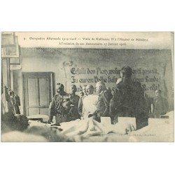 carte postale ancienne 08 CHARLEVILLE MEZIERES. Visite Guillaume II Hôpital en 1916