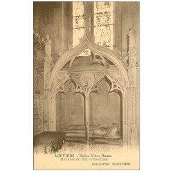 carte postale ancienne 27 LOUVIERS. Eglise Notre-Dame Mausolée Esternay
