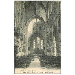 carte postale ancienne 27 LOUVIERS. Eglise Notre-Dame Nef et Choeur