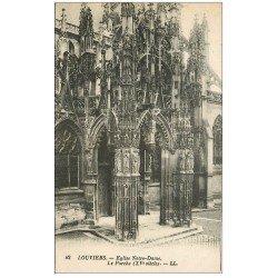 carte postale ancienne 27 LOUVIERS. Eglise Notre-Dame Porche