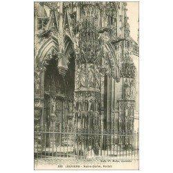 carte postale ancienne 27 LOUVIERS. Eglise Notre-Dame Portail