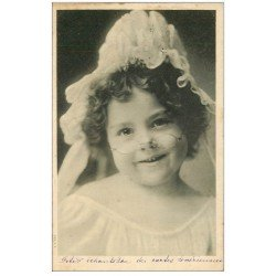 carte postale ancienne 27 LOUVIERS. Fillette Lovérienne à lunette 1906 bonnet de nuit