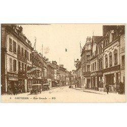 carte postale ancienne 27 LOUVIERS. Garage Rue Grande