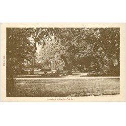 carte postale ancienne 27 LOUVIERS. Jardin Public