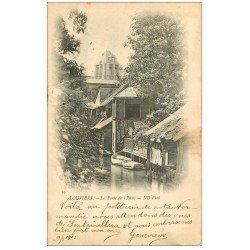 carte postale ancienne 27 LOUVIERS. La Porte de l'Eau 1902