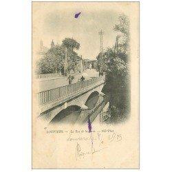 carte postale ancienne 27 LOUVIERS. La Rue de la Gare 1903