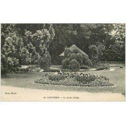 carte postale ancienne 27 LOUVIERS. Le Jardin Public 20