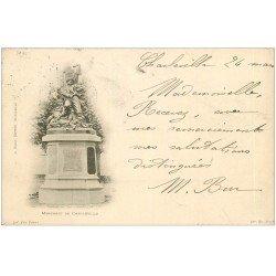 carte postale ancienne 08 CHARLEVILLE. Rare 1899 Monument de Charleville