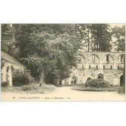 carte postale ancienne 27 LYONS-LA-FORET. Abbaye de Mortemer 1917