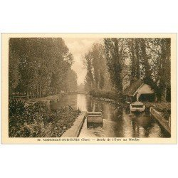 carte postale ancienne 27 MARCILLY-SUR-EURE. Bords de l'Eure au Moulin