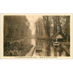 carte postale ancienne 27 MARCILLY-SUR-EURE. Bords de l'Eure au Moulin