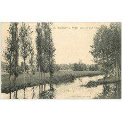 carte postale ancienne 27 MARCILLY-SUR-EURE. L'Eure du Pont de Fer 16