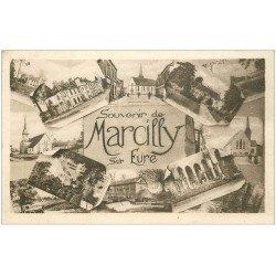 carte postale ancienne 27 MARCILLY-SUR-EURE. Multivue 1943