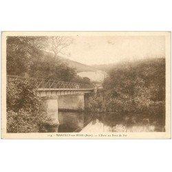 carte postale ancienne 27 MARCILLY-SUR-EURE. Pont de Fer 113