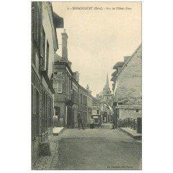 carte postale ancienne 27 NONANCOURT. Tabac Buvette rue Hôtel-Dieu 1916