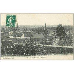 carte postale ancienne 27 NONANCOURT. Vue générale du Village vers 1913