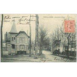 carte postale ancienne 27 PACY-SUR-EURE. Avenue de la Gare 1905