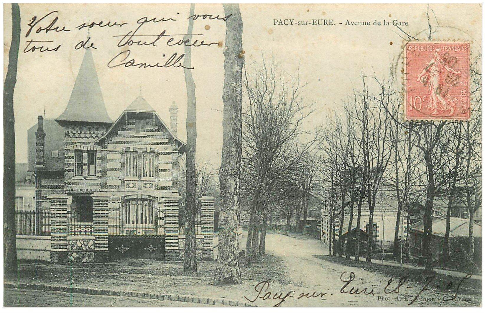 27 pacy sur eure avenue de la gare 1905 - Magasin avenue de la gare luxembourg ...