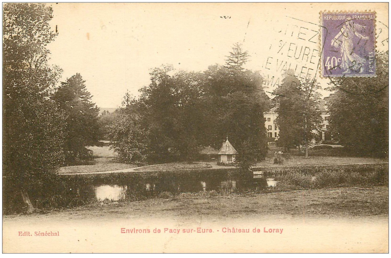 carte postale ancienne 27 PACY-SUR-EURE. Château de Loray 1925
