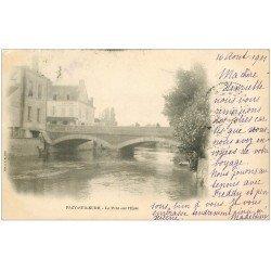 carte postale ancienne 27 PACY-SUR-EURE. Le Pont sur l'Eure 1901
