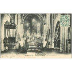 carte postale ancienne 27 PACY-SUR-EURE. L'Eglise intérieur 1906