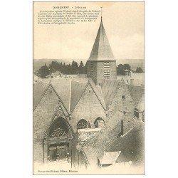 carte postale ancienne 08 DONCHERY. L'Eglise. Carte pionnière vers 1900 vierge