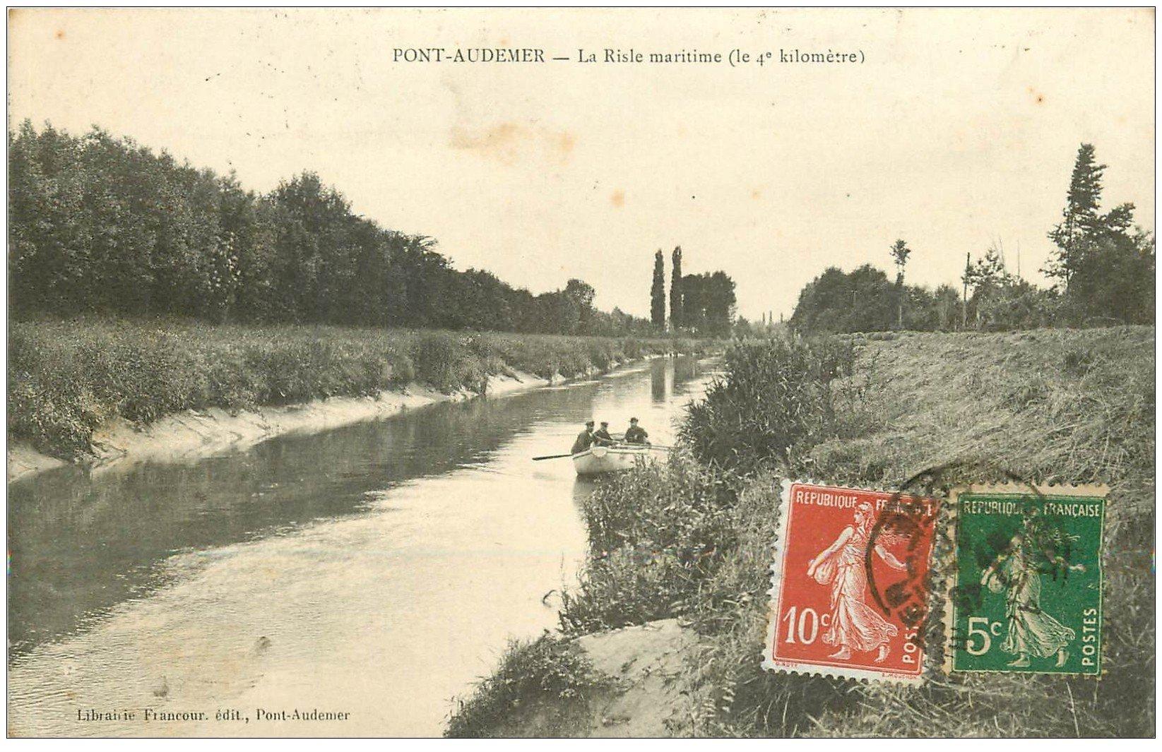 27 pont audemer canotage sur la risle maritime 1920 for Buro 27 pont audemer