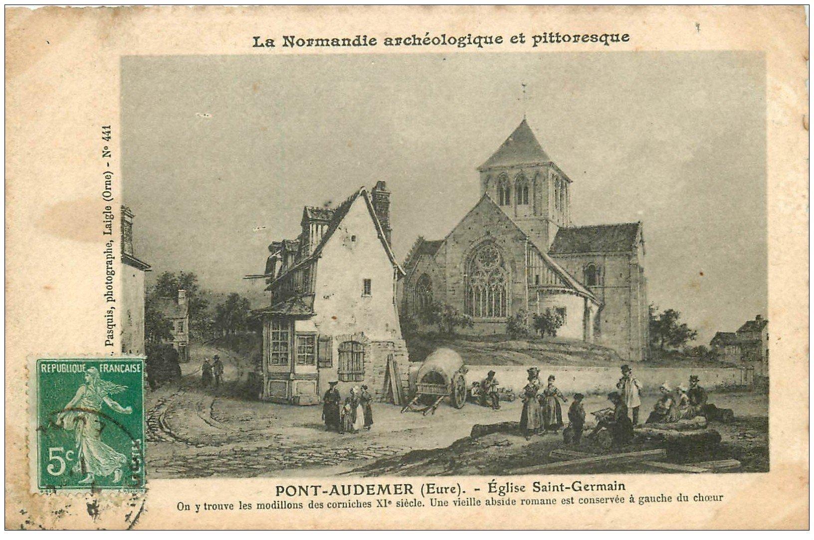 27 pont audemer eglise saint germain autrefois carte for Buro 27 pont audemer