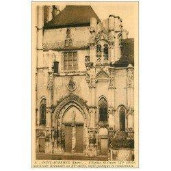 carte postale ancienne 27 PONT-AUDEMER. Eglise Saint-Ouen inachevée