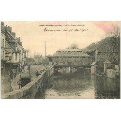 carte postale ancienne 27 PONT-AUDEMER. La Halle aux Poissons 1910