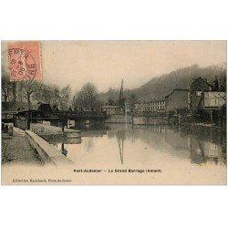 carte postale ancienne 27 PONT-AUDEMER. Le Barrage 1906