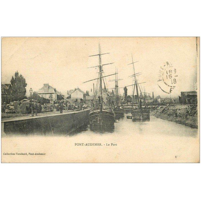 27 pont audemer le port 1918 bateaux de p che for Buro 27 pont audemer