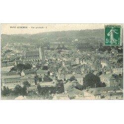 carte postale ancienne 27 PONT-AUDEMER. Vue générale 1908 minuscule morsure...