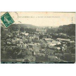 carte postale ancienne 27 PONT-AUDEMER. Vue générale 1910