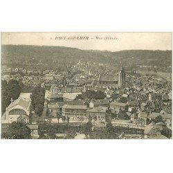 carte postale ancienne 27 PONT-AUDEMER. Vue générale 1918