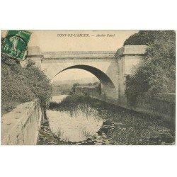carte postale ancienne 27 PONT-DE-L'ARCHE. Ancien Canal 1907