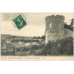 carte postale ancienne 27 PONT-DE-L'ARCHE. Anciennes Fortifications 1911
