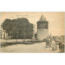 carte postale ancienne 08 GIVET. Allée des Tilleuls Place de la Victoire